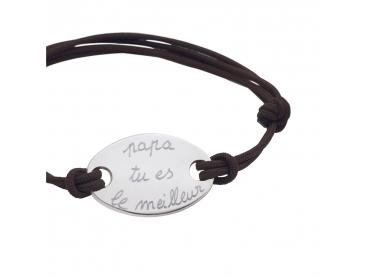 Bracelet personnalisé ovale