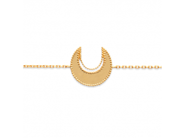 Bracelet lune perlée